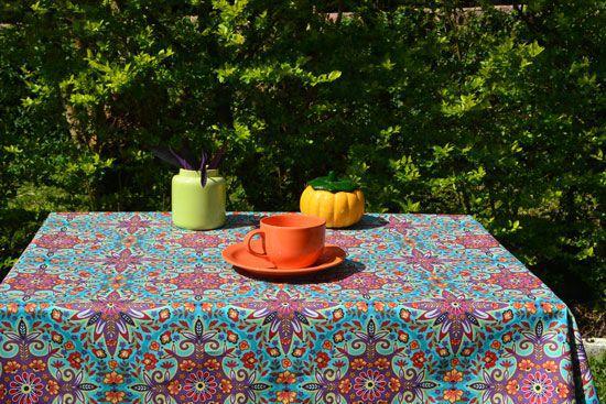 Toalha de Mesa Retangular 4 Lugares Watherblock Verde Woodstock