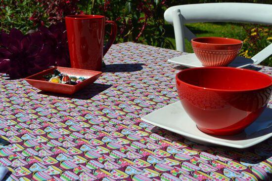 Toalha de Mesa Retangular 4 Lugares Xícaras de Chá