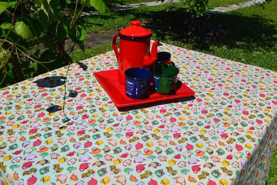 Toalha de Mesa Retangular 6 Lugares Amarela Chá das Cinco