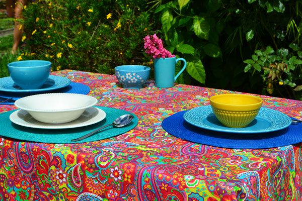 Toalha de Mesa Retangular 6 Lugares Índia Colors