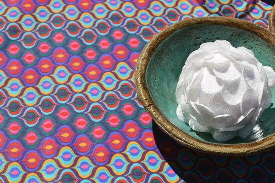 Toalha de Mesa Retangular 6 Lugares Rosa Gota de Cores