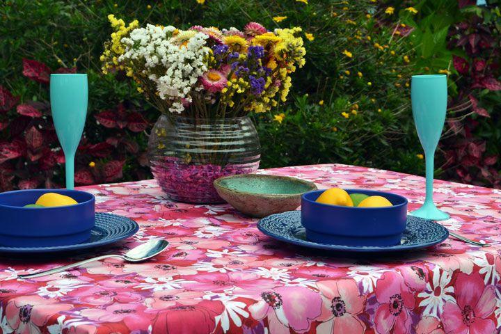Toalha de Mesa Retangular 6 Lugares Shows de Flores