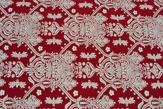 Toalha de Mesa Retangular 6 Lugares Vermelha com Branco Soberana