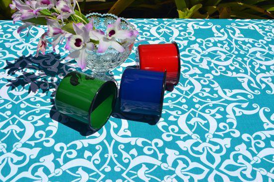 Toalha de Mesa Retangular 8 Lugares Estampa Green Garden