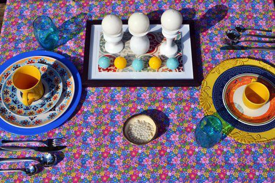 Toalha de Mesa Retangular 8 Lugares Lindas Flores