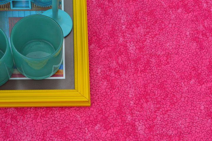 Toalha de Mesa Retangular 8 Lugares Rosa Textura