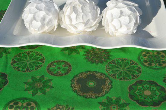 Toalha de Mesa Verde Retangular 8 Lugares Mantra