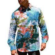 Camisa de Linho Floral Masculina