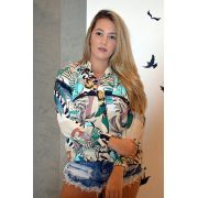 Camisa Social Feminina Luaninha Floral