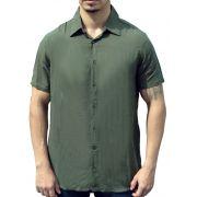 Camisa Viscose Masculina Verde Militar