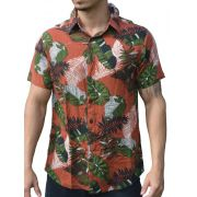 Camisa Viscose Savana Africana - Tijolo