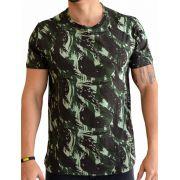 Camiseta Camuflada Exército - Verde