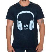 Camiseta Headphone DJ com Fecho nas Laterais