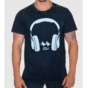 Camiseta Headphone DJ com Fecho nas Laterais