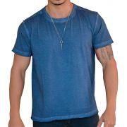 Camiseta Sky Corte a Fio - Azul Marinho