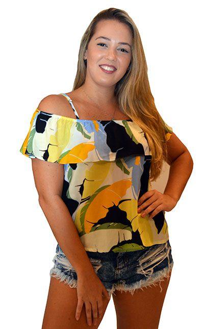 Blusa de Alcinha em Viscose Colors