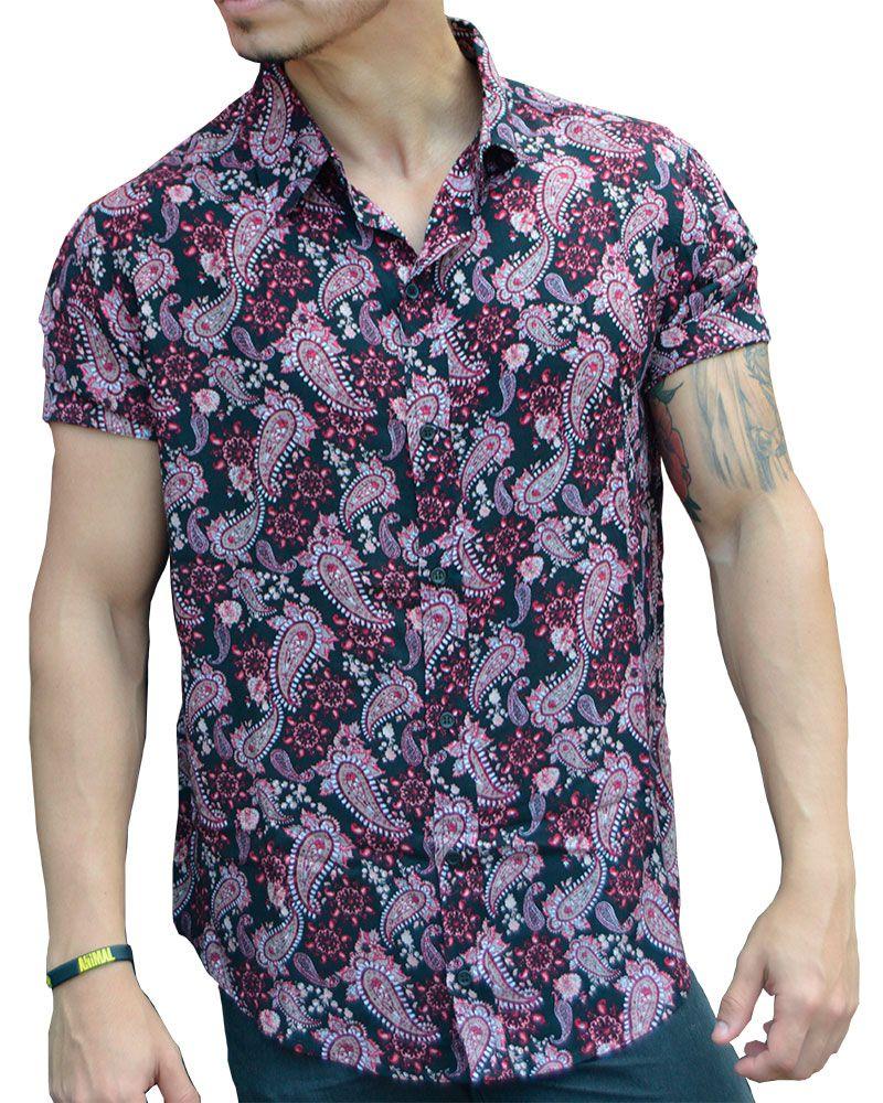 Camisa de Viscose Paisley