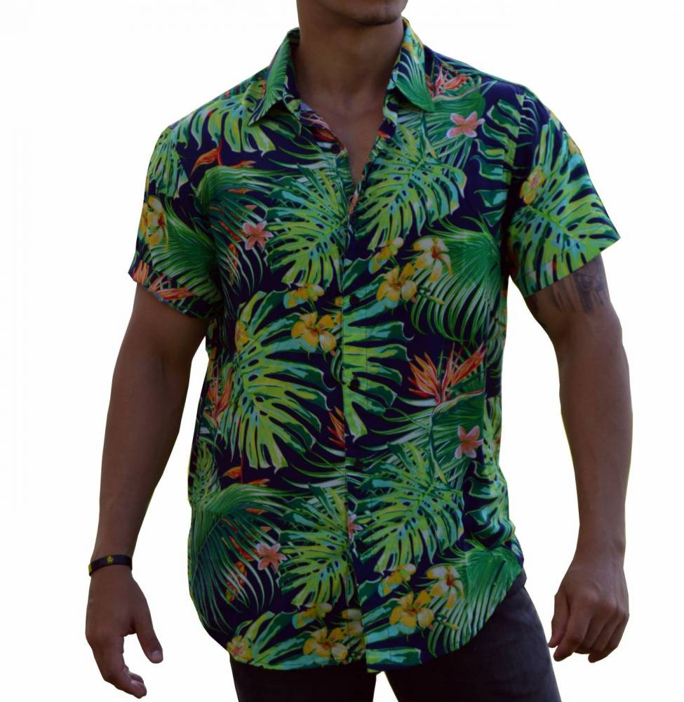 Camisa Floral Masculina Tropicalidade