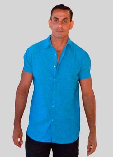 Camisa Índigo Azul - Manga Curta