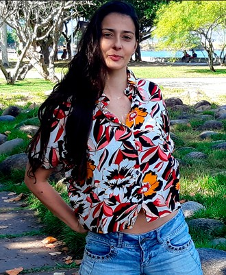 Camisa Social Cropped Laurinha Floral