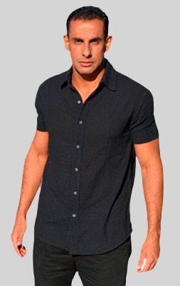 Camisa Trend Preta - Manga Curta