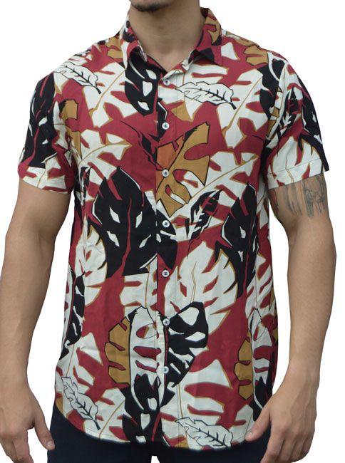 Camisa Viscose Masculina África Vermelha