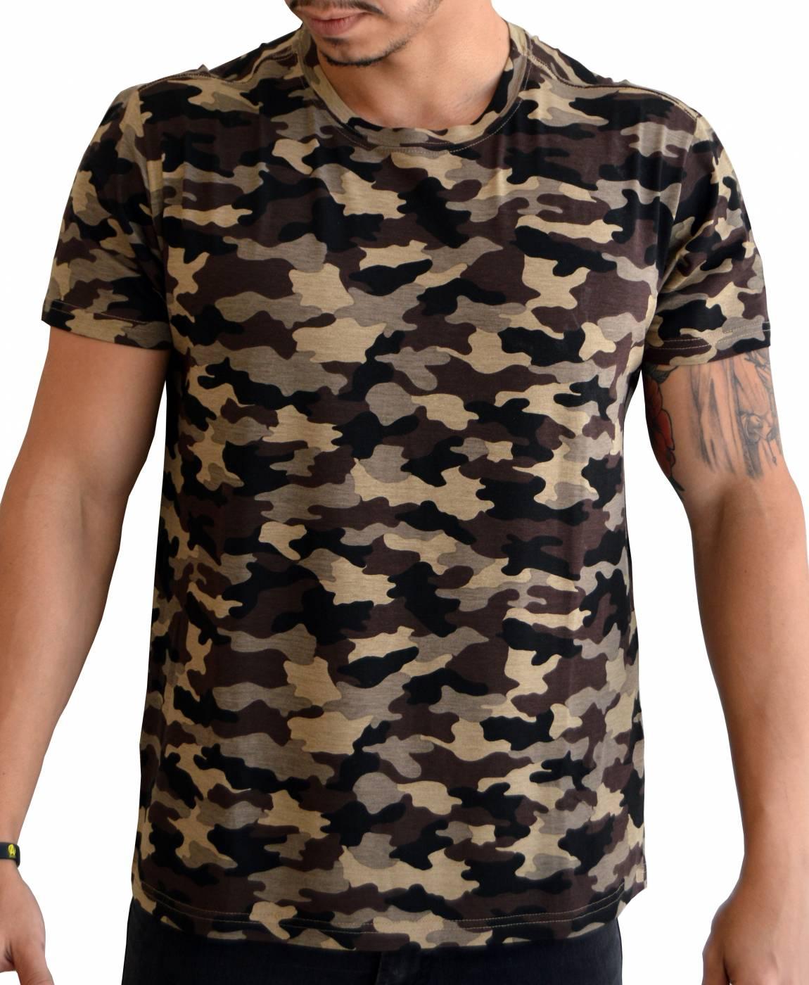 Camiseta Camuflada Batalhão de Choque - Malha de Viscose