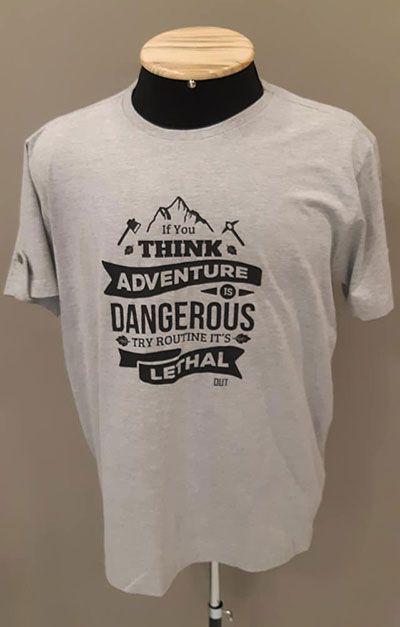 Camiseta Mescla Adventure - Cinza Claro
