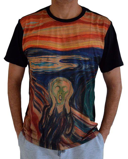 Camiseta O Grito - Edvard Munch - Preta