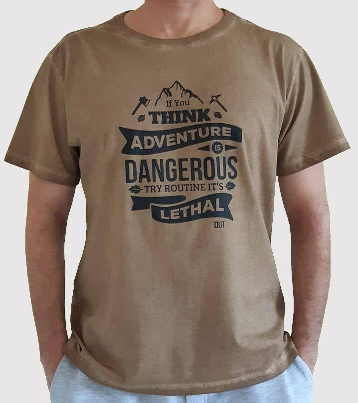 Camiseta Pigmento Adventure - Caqui