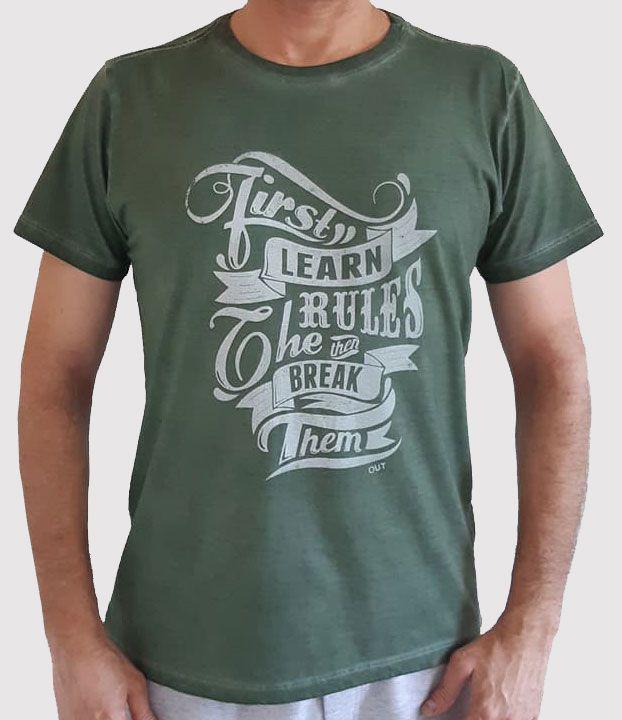 Camiseta Pigmento Rules - Verde