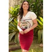 Blusa De Malha Estampada, Marilia - Jany Pim