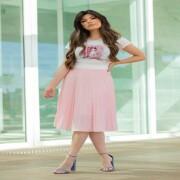 Blusa Estampa Moça No Telefone - Victórias Princess