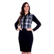 Conjunto Patricia Jaqueta Xadrez, Moda Evangélica - Hapuk
