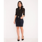Saia Jeans Tradicional 50 cm - Laura Rosa
