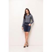 Saia Laura Rosa Jeans Com Taxas