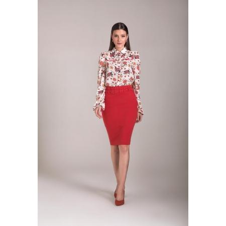 Saia sarja lapis collor 62cm,moda evangélica - laura rosa