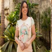 T-shirts Estampada Passarinho - Jany Pim