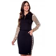 Vestido Ana Beatriz Em Composê, Moda Evangélica - Hapuk
