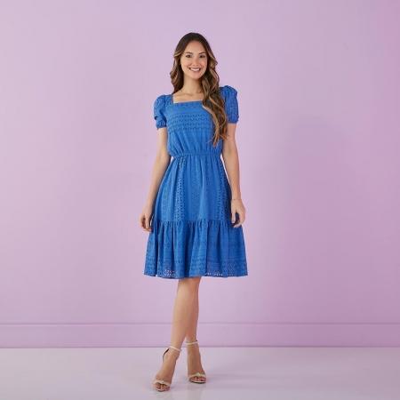 Vestido Angélica De Lese De Algodão, Moda Evangélica - Tata Martello