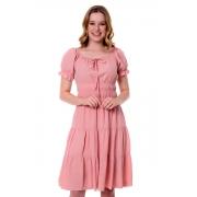 Vestido Ashley Com Det. na Cintura, Moda Evangélica - Hapuk