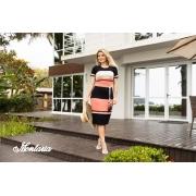 Vestido Ashley de Malha Decote Quadrado, Moda Evangélica - Montaria