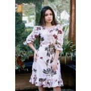Vestido Bianca Viscose Begonia, Moda Evangélica - Jany Pim