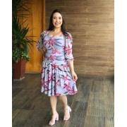 Vestido De Tule Com Decote Princesa - Moda Evangélica - Puro Sharmy