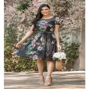 Vestido de tule floral, viviane - jany pim