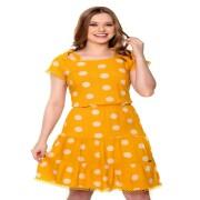 Vestido Dinora Com Amarração De Poá - Hapuk