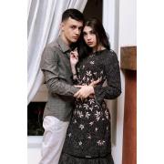 Vestido Estampado Crepe 105cm, Moda Evangélica - Laura Rosa