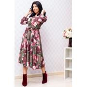 Vestido Floral Com Detalhes Em Botões - Jany Pim