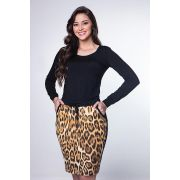 Vestido Hapuk com Estampa Animal Print