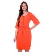Vestido Joana com Bolsos Frontais, Moda Evangélica - Hapuk